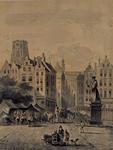 RI-332 De Grootemarkt te Rotterdam, omstreeks 1700.