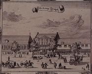 RI-34-10 Gezicht op de Nieuwemarkt met het Boterhuis en de hennepwaag en de Prinsenkerk (links).
