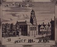 RI-34-4-(1) Gezicht op de Franse Kerk aan de Hoogstraat (rechts), met op de voorgrond de Schiedamsedijk (later Korte ...