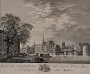 RI-349 Oude Haven, gezicht van de Geldersekade naar de Grote Kerk, de Beurs en de Kleine Draaibrug.