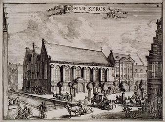 RI-39D-I Gezicht op de Prinsenkerk en de Nieuwemarkt bij de Botersloot.