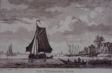 RI-458-II Het IJsselmondse Veer. Rechts de Schaardijk, Kralingseveer.