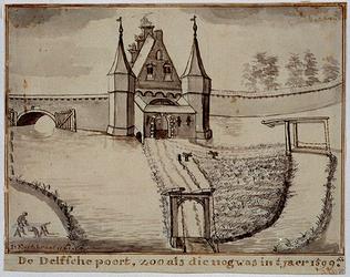 RI-486 De Delftse Poort in het jaar 1599.