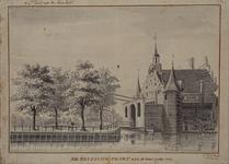RI-493 De westzijde van de Delftse Poort aan de Coolsingel.