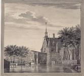 RI-496 Gezicht op de Sint Joris- of Delftse Poort aan de Coolsingel.