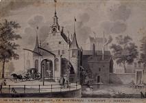 RI-499 De oude Delftsepoort die in 1766 is gesloopt.