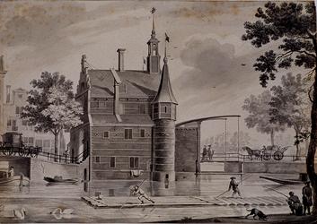 RI-500 De Delftse Poort aan het Hofplein, omstreeks 1765.