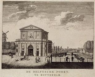 RI-507 Coolsingel - Delftsepoortplein,Delftse Poort uit het zuiden.