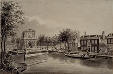 RI-512 Rotterdamse Schie. Delftse Poort en stadsherberg de Romeyn.