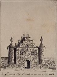 RI-519 De Goudsche Poort zoals die was voor 1563.