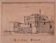 RI-521 De Goudse poort Anno 1580 aan de Goudsesingel, uit het noorden.