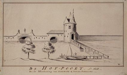 RI-532 De Hofpoort. Ao 1618. Na de afteekening van Alkemade en van der Schelling.