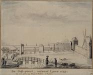 RI-543 De Oost Poort in het jaar 1599. Naar een prent van Henryck Haestens te Leyden.