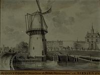 RI-548 De Oostpoort bij de grote watermolen en sluizen.