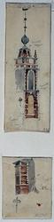 RI-555-1-EN-2 Toren en één der schoorstenen van de Oostpoort.
