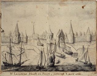 RI-558 St. Laurens Hooft en Poort in het jaar 1560.