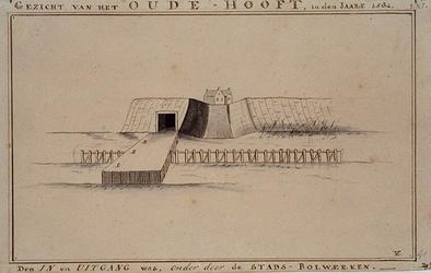 RI-565 Gezicht van het Oude-Hoofd, in het jaar 1584.
