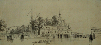 RI-578 De Oudehaven met de Spanjaardsbrug en de Ooster Oude Hoofdpoort.