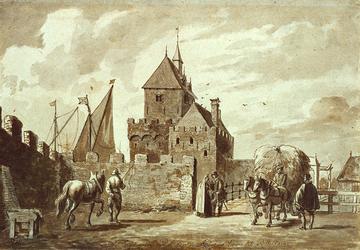 RI-638 Gezicht op de Schiedamse Poort circa 1560.