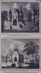 RI-640-1-EN-2 Boven ( RI 640-1 ): De Oude Goudse Poort aan de Goudsewagenstraat.Onder (RI 640-2 ): De Schiedamse Poort ...