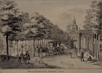 RI-645 De Schiedamse Poort anno 1758.