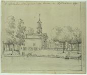 RI-647 De Schiedamse Poort uit het noorden. Op de voorgrond de Schiedams Vest.