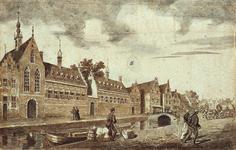 RI-654 Gezicht op het Sint-Agnietenklooster aan de Botersloot omstreeks 1500.