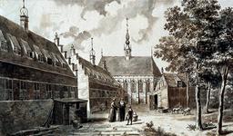 RI-655 Het Sint-Agnietenklooster aan de Botersloot, gezien vanaf de binnenplaats anno 1500.
