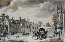 RI-662 Het Sint Annaklooster op de hoek van de Bredestraat Goudsewagenstraat omstreeks 1550.