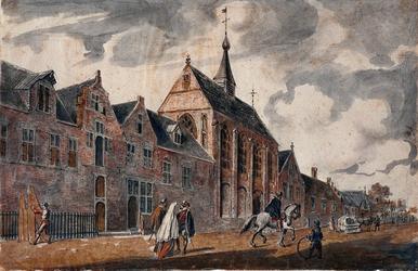 RI-677 Het Dominicanenklooster aan de Hoogstraat omstreeks het jaar 1560.