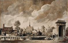 RI-678 Achterzijde van het Dominicanenklooster en de Goudse Poort aan de Goudsesingel omstreeks 1560.