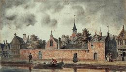 RI-682 Het Minder- of Cellebroeders Klooster aan de Delftsevaart bij de Broedersteeg omstreeks 1530.