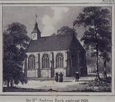 RI-685 Gezicht op de Sint Andrieskerk aan de Leeuwenlaan.