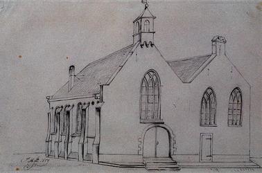 RI-689 Schots kerk, hoek Meent.