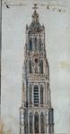 RI-697 St Laurentoorn tot Rotterdam Ao 1621 Bovenstuk, mogelijk het ontwerp tot afbouw van de toren.