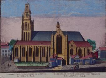 RI-701 Gezicht op de Grote Kerk aan het Grotekerkplein, uit het zuiden.