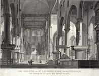 RI-723 Het interieur van de Grote Kerk met zicht naar het orgel.
