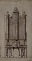 RI-726A Ontwerp van het orgel van de Grote Kerk.