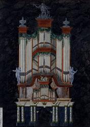 RI-727 Het orgel in de Grote Kerk.
