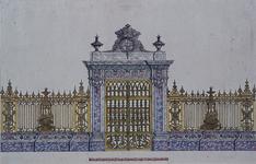 RI-729 Het koorhek in de Grote Kerk aan het Grotekerkplein omstreeks 1710-1715.