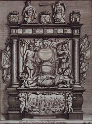 RI-731 Praalgraf voor Witte Cornelis de With in de Grote Kerk aan het Grotekerkplein.