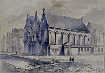 RI-748 Prinsenkerk aan de Botersloot, hoek Nieuwemarkt. Rechts de boterhal.