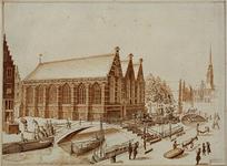 RI-749 De Prinsenkerk aan de Botersloot.Rechts op de achtergrond het Stadhuis aan de Kaasmarkt.