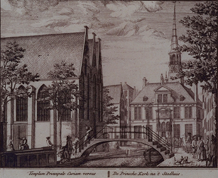 RI-750 Prinsenkerk, rechtsachter het Stadhuis.