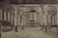 RI-754 De Prinsenkerk van binnen gezien.