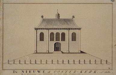 RI-756 De Nieuwe of Oosterkerk. Ao 1681. Na de afteekening van Alkemade & van der Schelling .