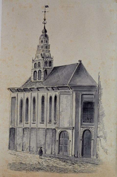RI-777 Franse kerk aan de Hoogstraat.
