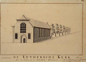 RI-779 De Lutherse kerk aan de Vest, bij de Heerenstraat 1651.