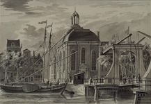 RI-785 De Lutherse Kerk en de Houtbrug gezien vanuit het noorden.