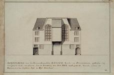 RI-795 Vissersdijk. Afbeelding van de Remonstrantsche Groote Kerk te Rotterdam, gesticht in den jaare 1628, ter ...